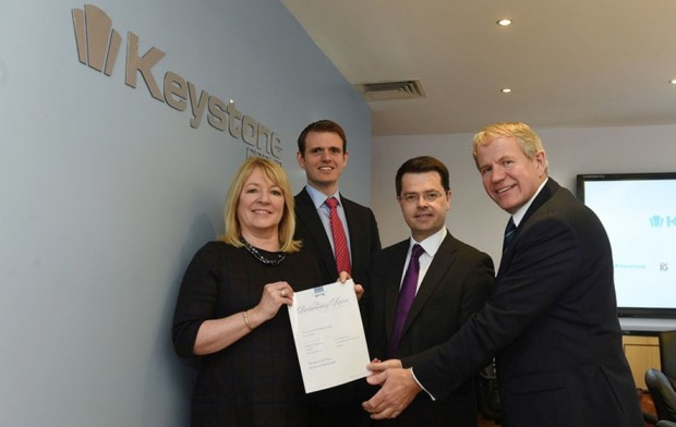 James Brokenshire Present Keystone with the Parliamentary Review